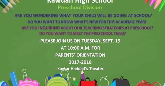 Parents' Orientation